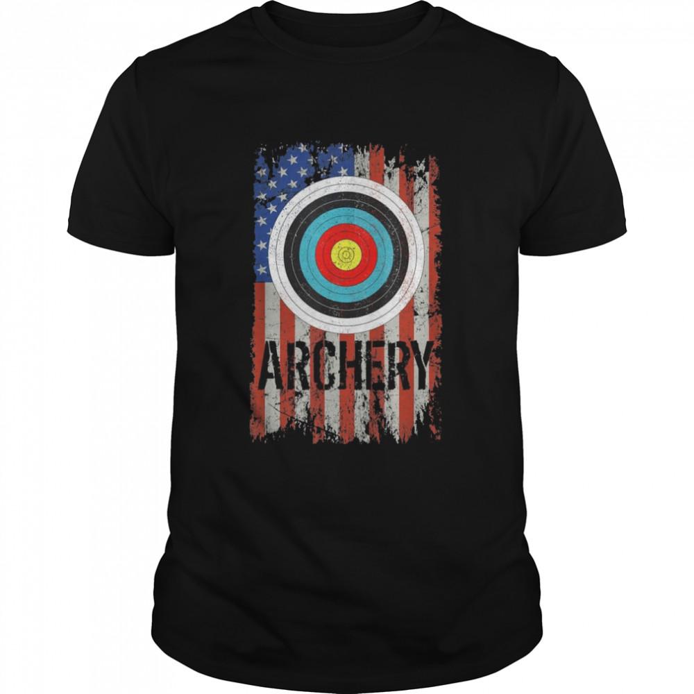Archery USA Flag Target Bullseye shirt Classic Men's T-shirt