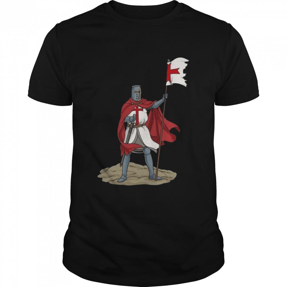 Crusader Knights Templar Sword Shield shirt Classic Men's T-shirt
