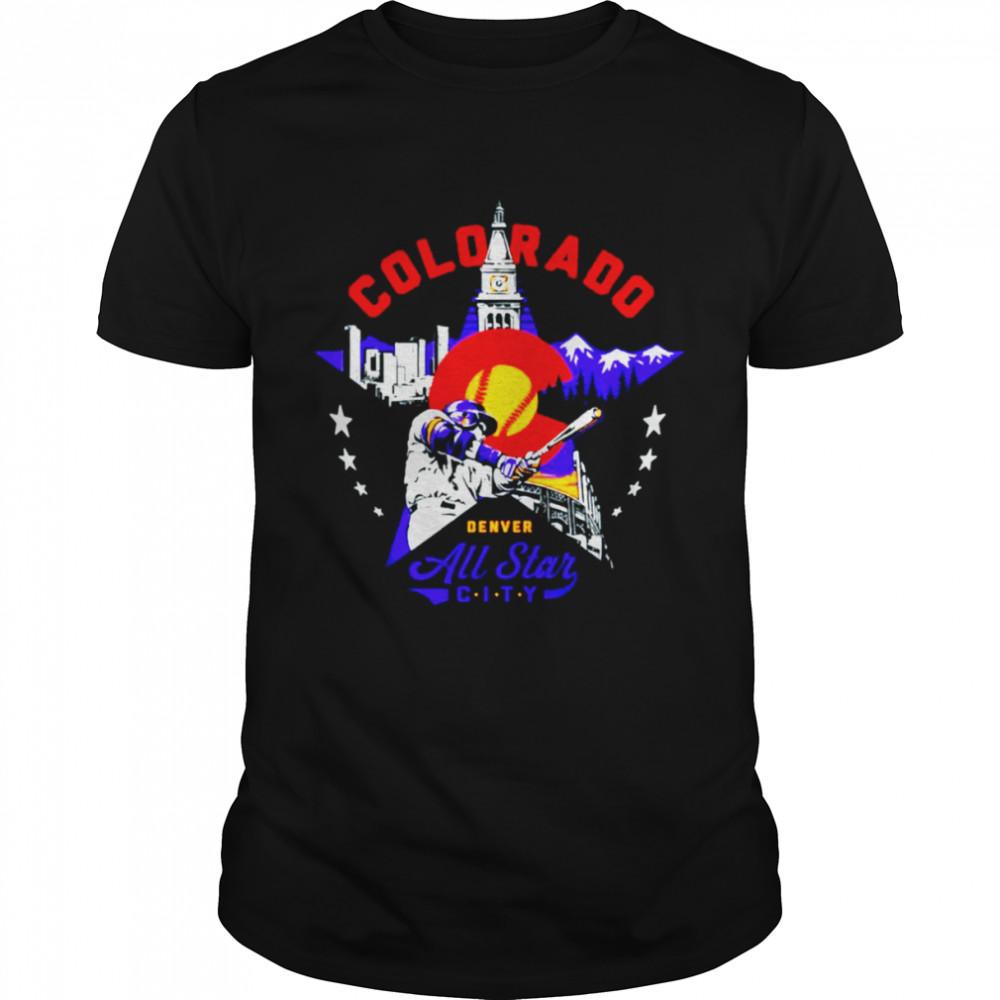 Denver Colorado All Star City baseball shirt Classic Men's T-shirt