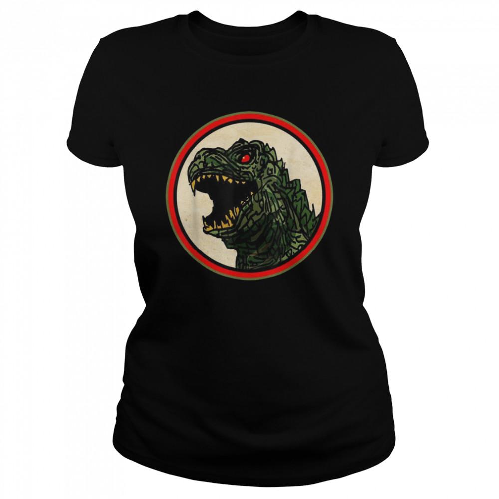 Dragon Anime Monster Gesicht für Cartoon Fans  Classic Women's T-shirt