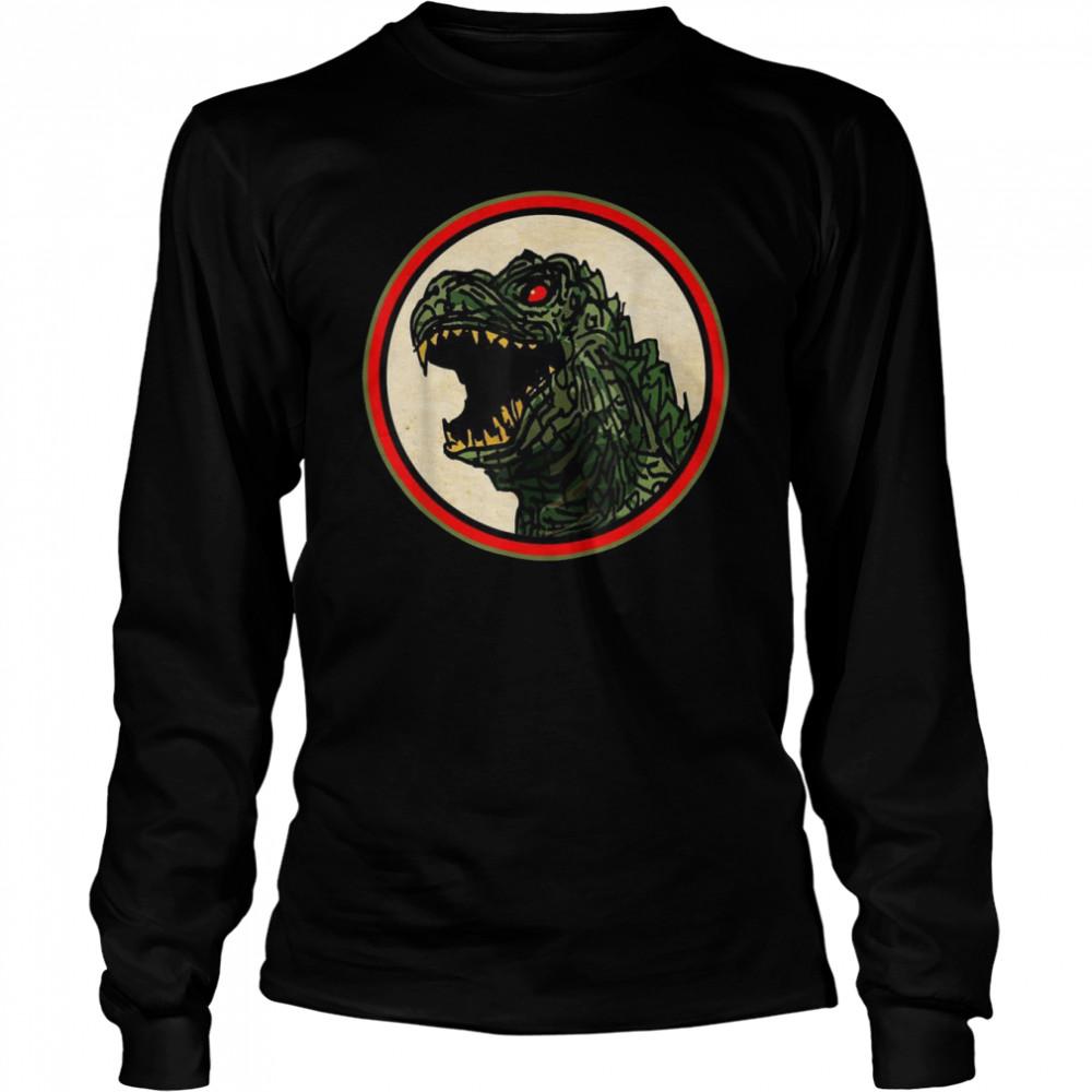 Dragon Anime Monster Gesicht für Cartoon Fans  Long Sleeved T-shirt