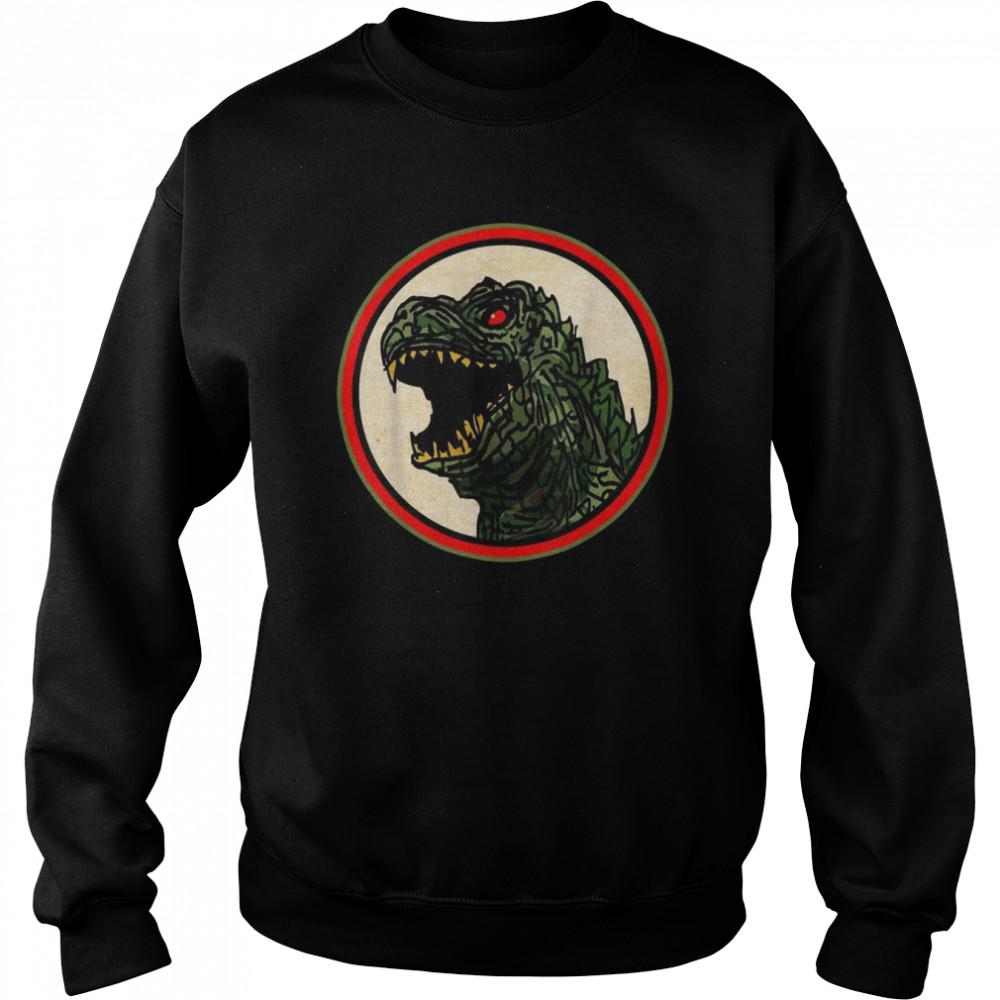 Dragon Anime Monster Gesicht für Cartoon Fans  Unisex Sweatshirt