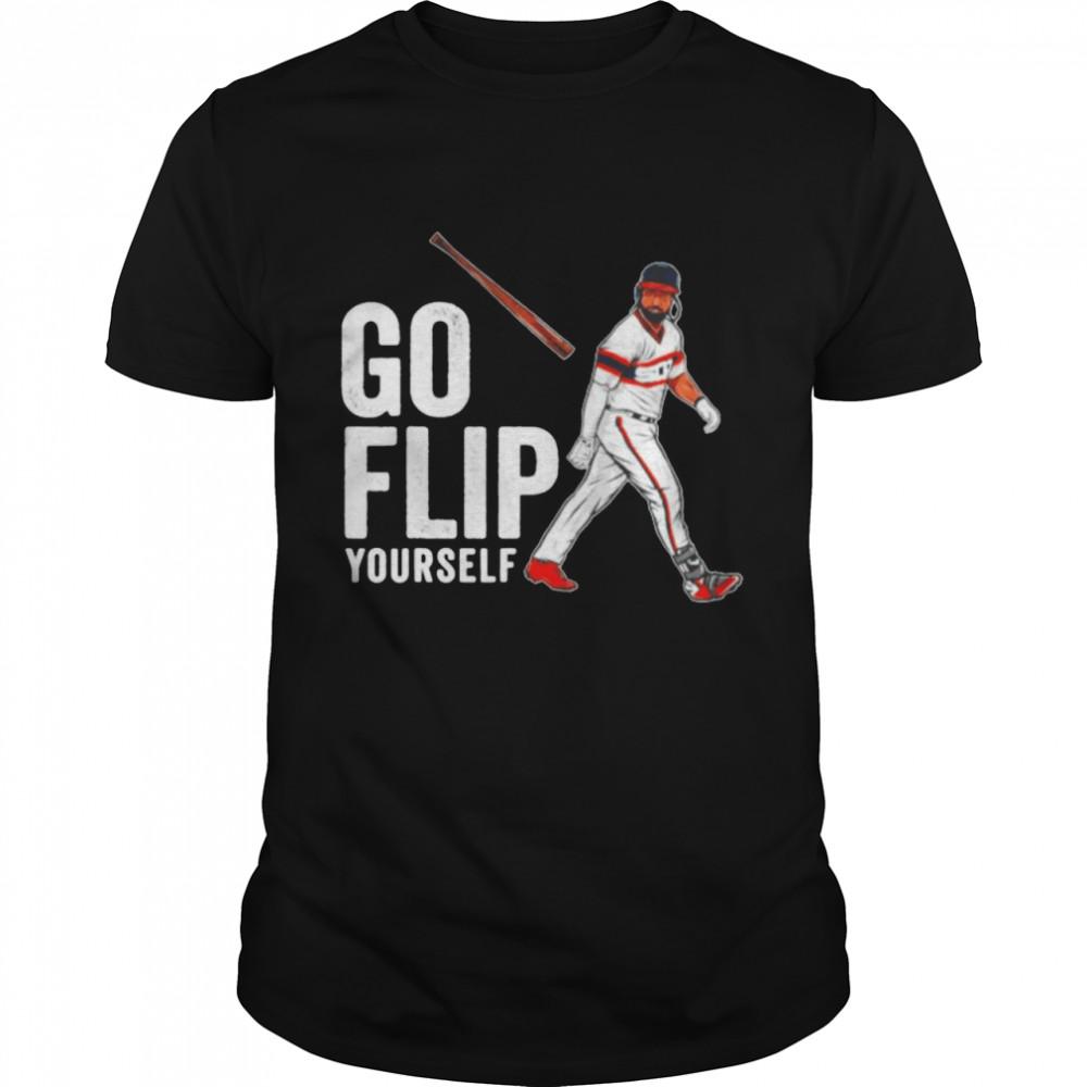 Go Flip Yourself Goodwin Bat Flip Baseball shirt Classic Men's T-shirt