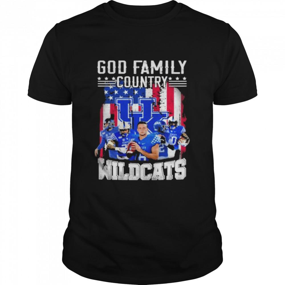 God Family Country Kentucky Wildcats American flag shirt Classic Men's T-shirt
