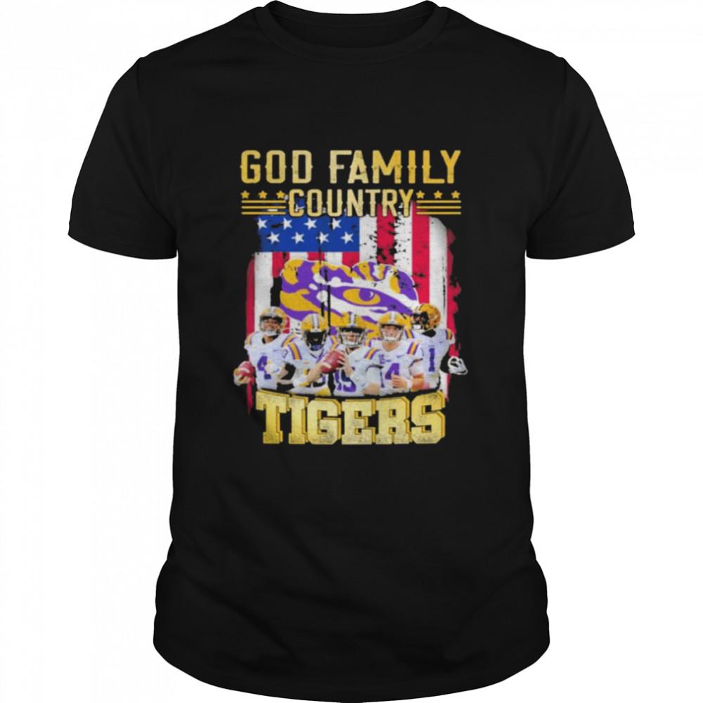 God family country LSU Tigers American flag shirt Classic Men's T-shirt