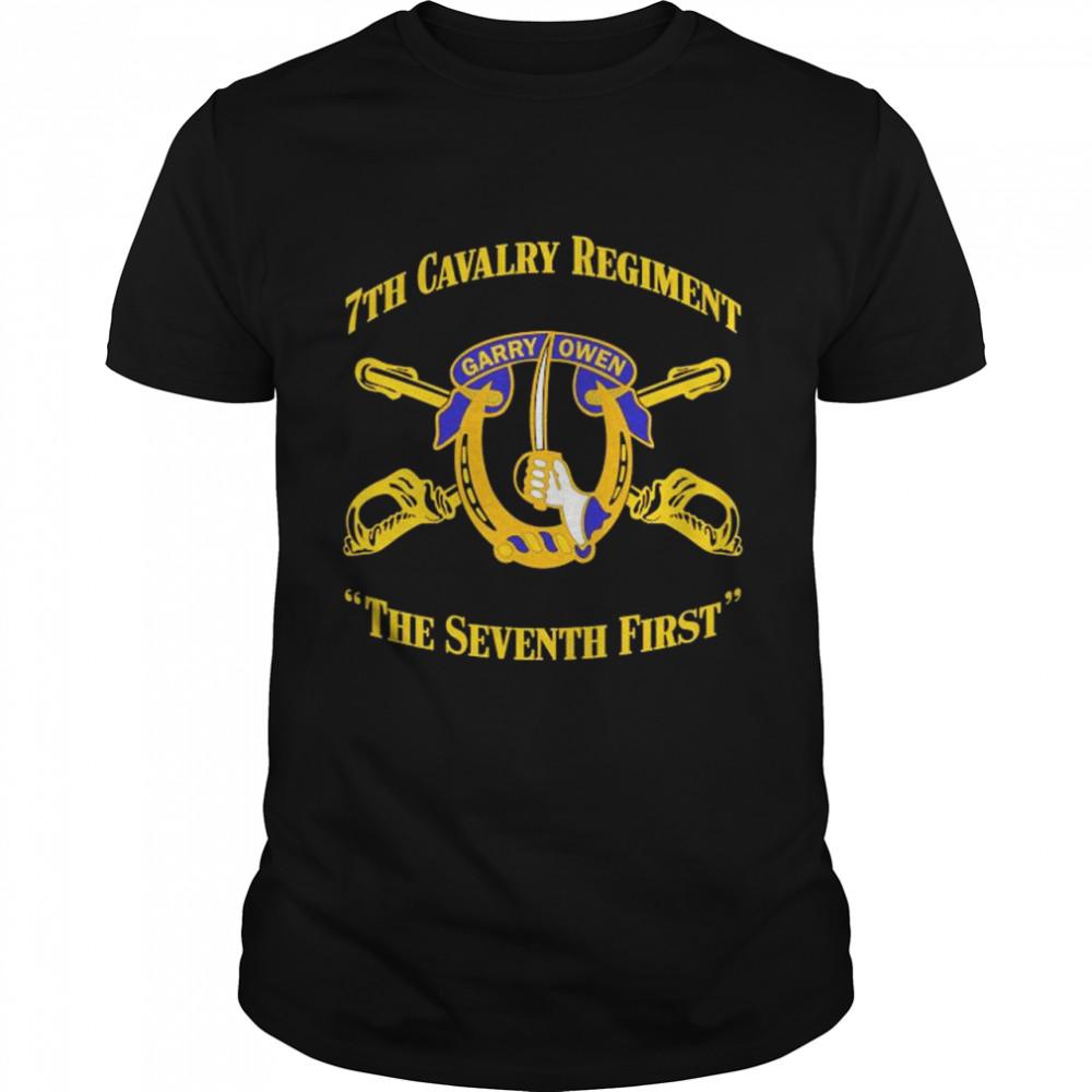 7th cavalry regiment garryowen the seventh first shirt Classic Men's T-shirt