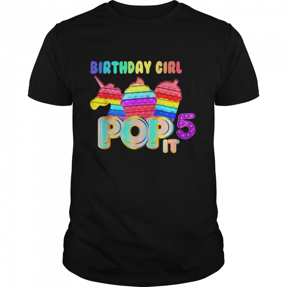 Birthday girl 5 pop it  Classic Men's T-shirt