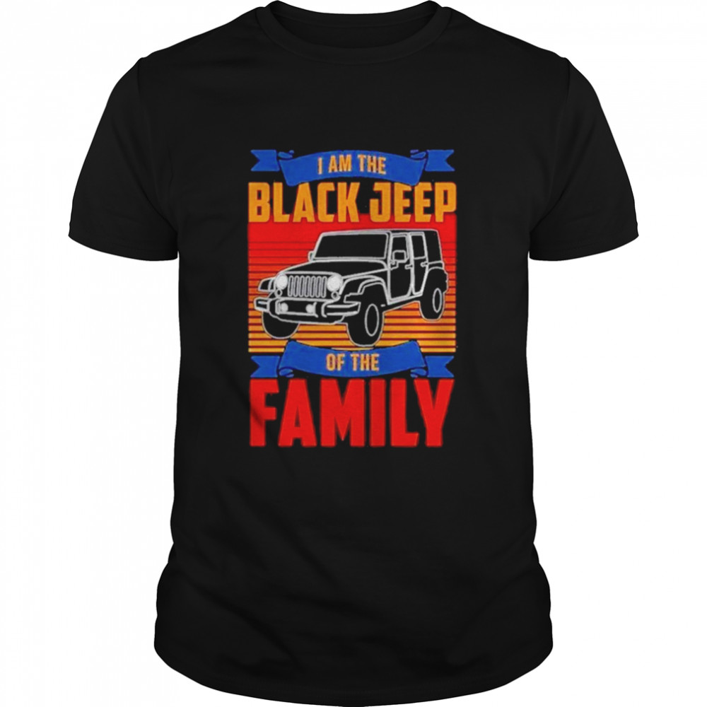 I am the black Jeep of the family vintage shirt Classic Men's T-shirt