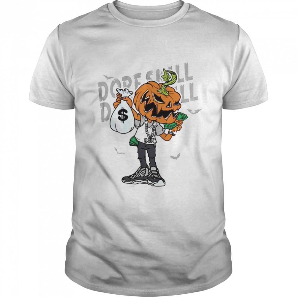 Pumpkin Halloween Match Jordan Cool Grey shirt Classic Men's T-shirt