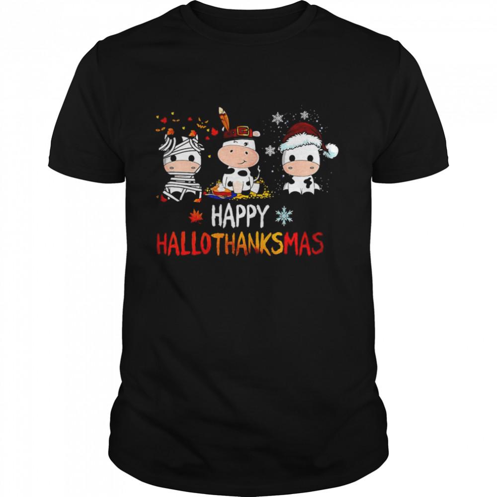 Dairy Cow Halloween Happy HalloThanksMas Shirt