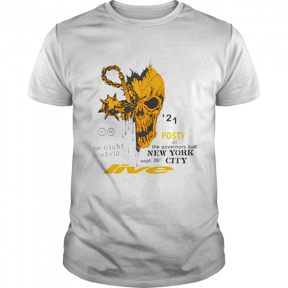 Premium post Malone one night only posty at the governors ball New York City shirt Classic Men's T-shirt