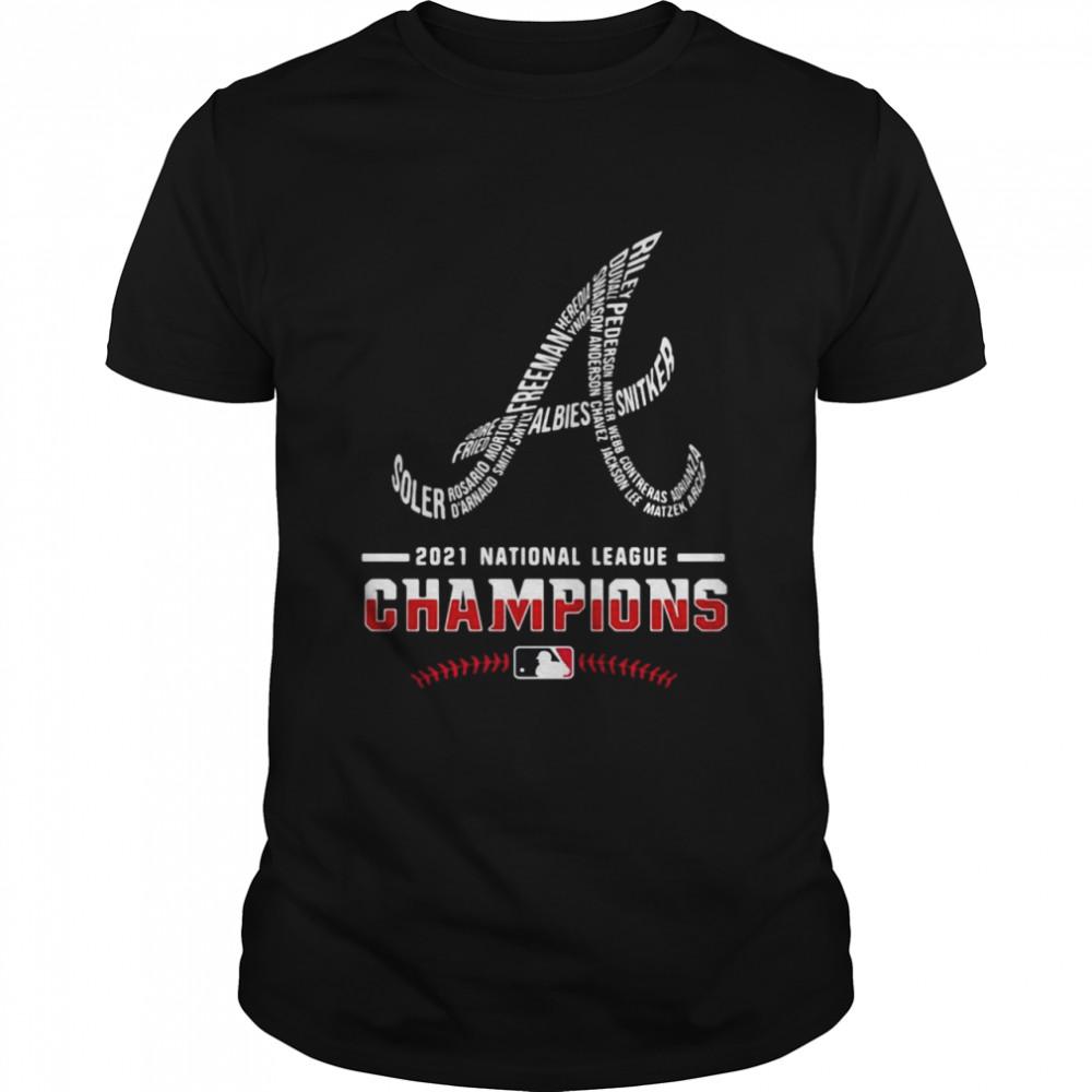 Atlanta Braves Player Name 2021 National League Champions  Classic Men's T-shirt