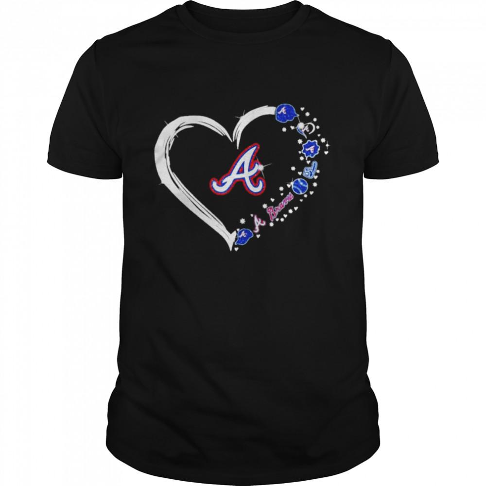Diamonds Heart Love Atlanta Braves 2021  Classic Men's T-shirt