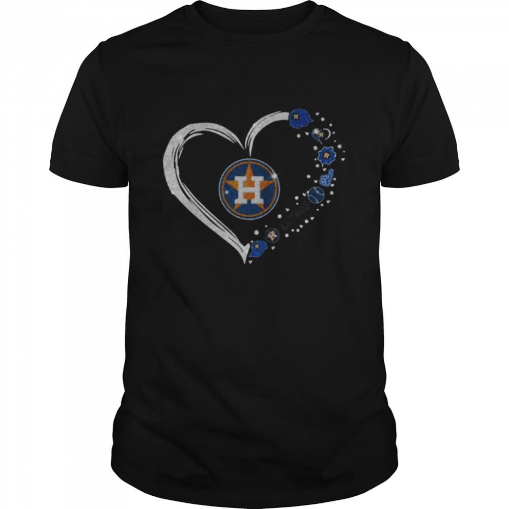 Diamonds Heart Love Houston Astros 2021  Classic Men's T-shirt