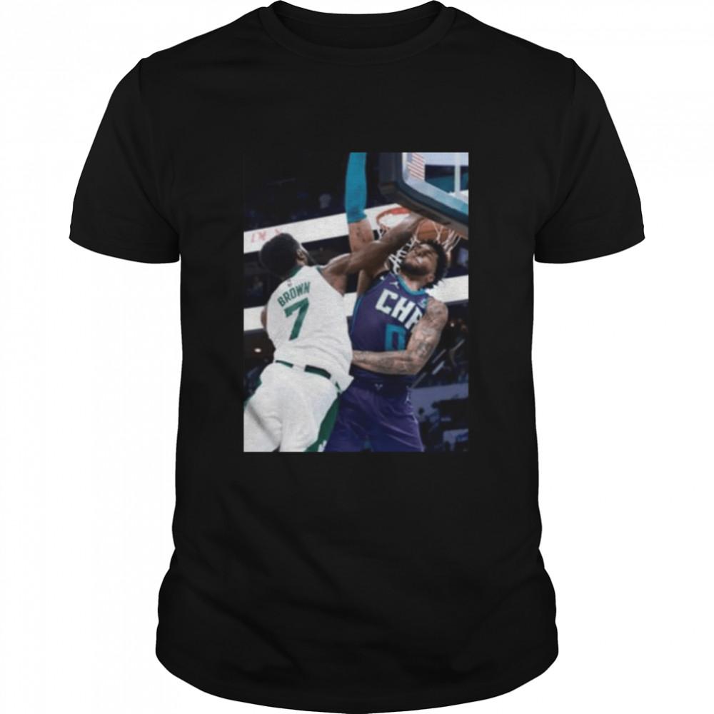 Jaylen Brown Throws It Down  Classic Men's T-shirt